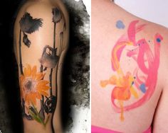 50 Mindblowing Tattoo Designs For Girls -- Love the water color look!