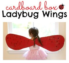 This is perfect for Ladybug girl fans! Ladybug wings kids can help make.