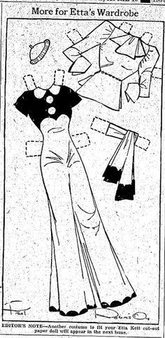 Etta Kett | Etta Kett – 4-19-37 Final Fashions for Your Paper Doll Cut-Outs | YesterYear ...