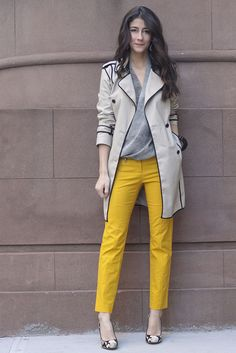love the yellow with all neutrals