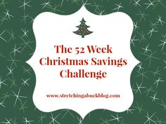 52 week christmas savings challenge