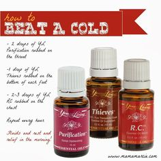 Beat a cold with Young Living Essential OIls!  (Be sure to dilute with a carrier oil!)  ID #1488992