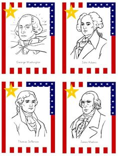 US President Printable Cards