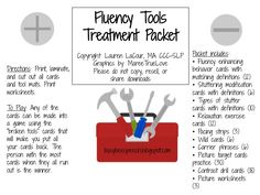 Busy Bee Speech: Fluency Tools detailed treatment packet