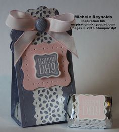 Stampin' Up! Two Tag Die  by Michele R: Ciao, Baby! Party Favor