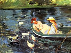 mari cassatt, oil paintings, marycassatt, ducks, mary cassatt, museum, artist, summertime, artwork