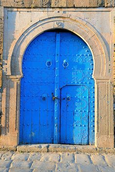 Traditional door, Sidi Bou Said, Tunisia