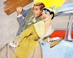 1950s, couple