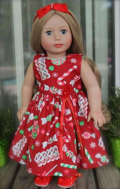 You Will Find The Best American Girl Doll Christmas Dresses at the Harmony Club Dolls Fits American Girl Doll Christmas Store www.harmonyclubdolls.com