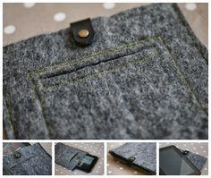 Oh Gosh: Simple Felt Tablet Case DIY.