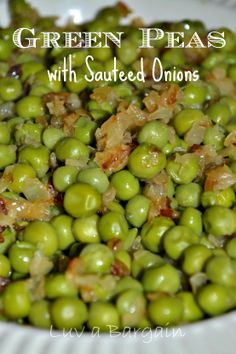 Green Peas with Sauteed Onions. Add bacon or lardons and you have ...