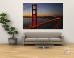 Golden Gate Bridge Wall Mural by Vincent James at Art.com