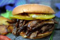 Pulled Buffalo B B Q Sandwich