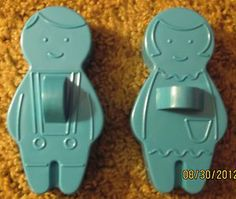 Vintage 1965 Avon Boy and Girl Gingerbread Cookie Cutters | eBay -- we had these when I was  a kid.