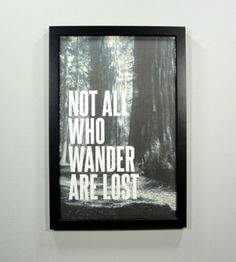 Not All Who Wander Framed Art Print | Art Prints | Canton Box Co.