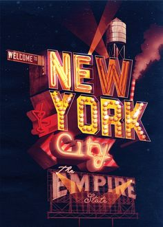 The concrete jungle! I like the #3D fx! #Typography #NewYork