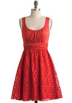Artisan Iced Tea Dress in Hibiscus, #ModCloth