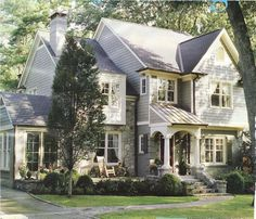 Pretty grey & stone home