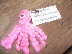 "Yarn octopus-What does an octopus take on a camping trip? ""Tent""acles--maybe a swap?"