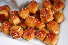 Soft Pretzel Bites with Cheese Sauce