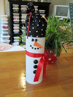 Recycled Pringles can - use as a cookie container - will make great gifts