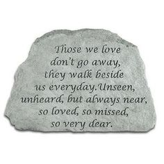 Those We Love Don't Go Away - Memorial Stone (PM4164)