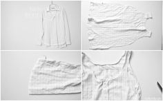 C: Men's button up to Summery flowy tank top tutorial