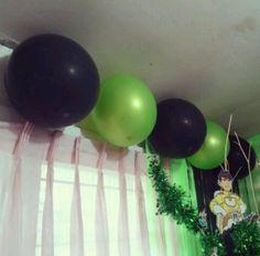 Green & Black balloons for Ben10 PARTY THEME :-)