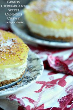 cannoli crust, bake lemon, no sugar dessert, dessert recipes, oven, lemon filling, lemon cheesecake, pie fillings