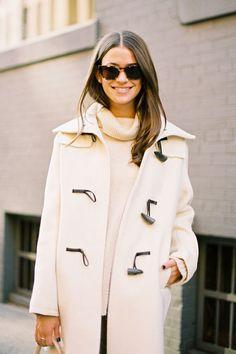 White Toggle Coat
