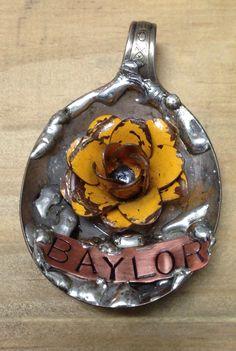 spoon art, spoon necklac