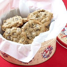 Make a batch of old-fashioned oatmeal cookies even more special by adding chocolate chips and raisins.