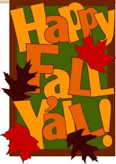 Happy Fall yall Flag e151309