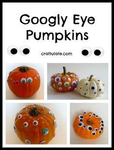 Googly Eye Pumpkins by Craftulate