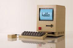 Beyond awesome: the original Mac 128 in Lego (powerpig, via Flickr)