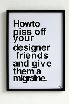 If this poster makes you want to scream, you might just be a designer (or a design critic).