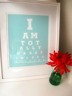 How cute would this be for the wife of an eye doctor!?!? Haley Padgham