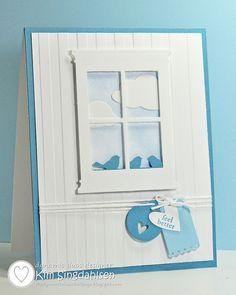 Birds duo color, memori box, little birds, memories die cards, dynam duo, craft idea, challeng, window card, blues