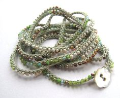 beaded crochet wrap bracelet