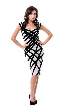 Nude Black Bandage Dress