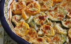 Zucchuni and Squash Au Gratin