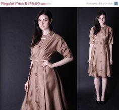 1960s Gold R&K Originals Dress