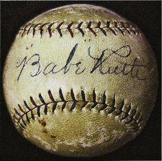 Babe Ruth baseball.
