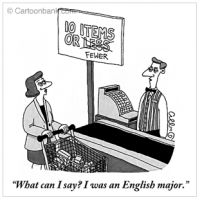 Blog Post: Funny Things English Teachers find in papers. Mom de Plume: Stop! Grammar Time! englishmajor, english major, new yorker, pet peeves, funni, write, fewer, humor, grammar