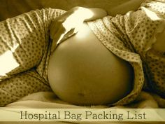 Eco-novice: Labor and Delivery Hospital Bag Packing List