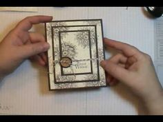 Easy Triple Time Stamping Technique Card