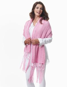 Chevron shawl free knitting pattern