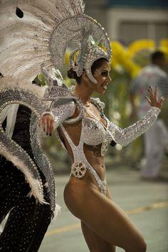 beautiful Brazilian Carnival reveler