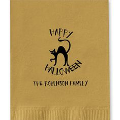 Cat Foil-Pressed Guest Towels add a little Halloween fun to your powder room or buffet table. Create yours today at http://www.giftsin24.com/Cat-Foil-Pressed-Guest-Towels Ships in 24 hours. FREE FedEx ground shipping. #towels #party #halloween #personalized #madeinAmerica