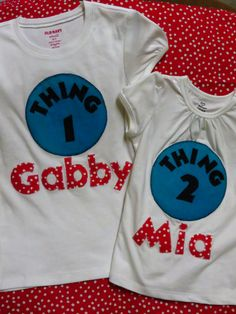 Dr. Seuss inspired personalized shirt. $25.00, via Etsy.